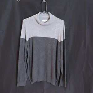 Calvin Klein Grey two tone turtleneck sweater